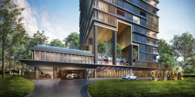 Enterance saumata apartment at alam sutera tangerang