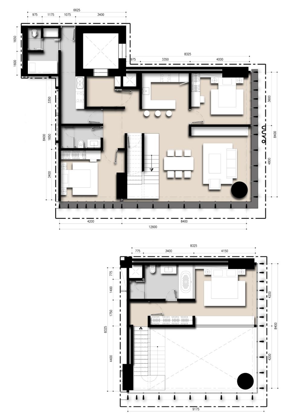 Saumata unit Plan 3 BR Loft A