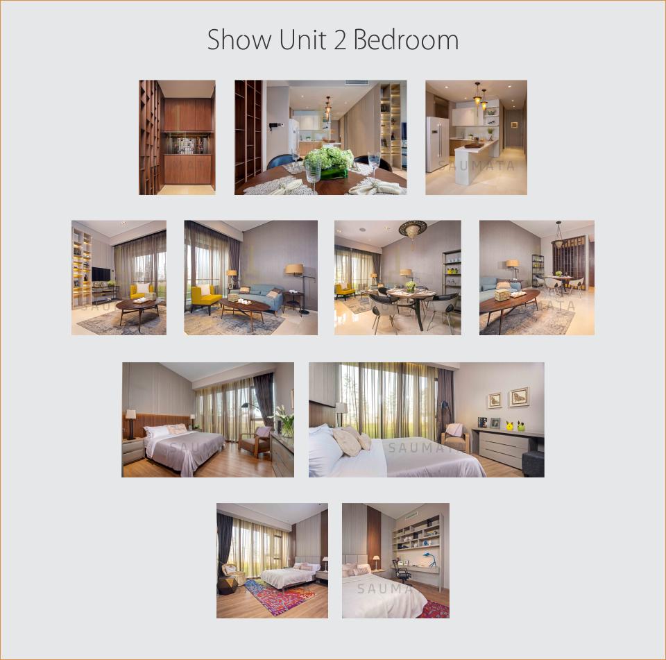show unit 2 Bedroom apartemen SAUMATA